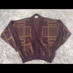Vintage 90s Cardigan Justin Blake Italy Sweater L